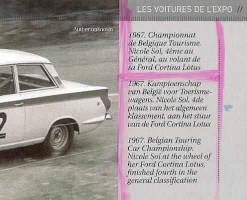 Nicole Sol Championnat de Belgique 1967