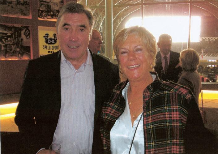 Nicole Sol et Eddy Merckx